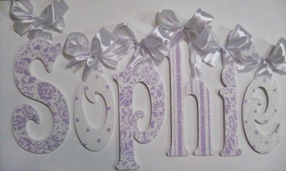 Wood Letters Wooden Wall Letters Baby Name Letters