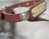 Leather Concho Dog Collar, Berry Swirl Concho Collar, Brown Leather Collar, Personalized Dog Collar, Leather Dog Collar, Beagle Dog Collar