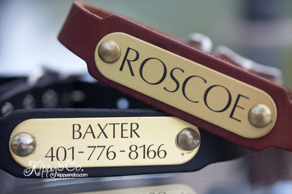 Leather Dog Collar//Personalized Dog Collar// Leather id Collar// Dog Collar//Custom Leather