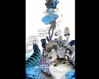 Alice in Wonderland print - 8 x 16