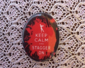 Keep CalKeep Calm and Stagger on Zombie Cabochons Keep Calm and Stagger on Zombie Cameo 40X30...Unset.
