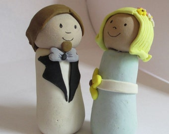 Wedding Cake Topper - Ponytail Groom