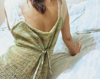Hand-Knitted Top - Sage Fairy