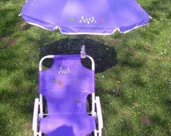 Personalized beach chair & umbrella set