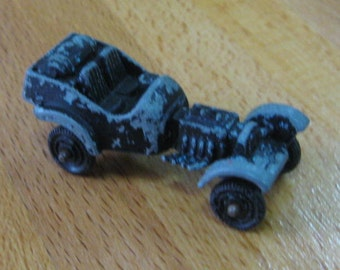 Vintage Tootsie Toy Die Cast Black Roadster Car Chicago IL