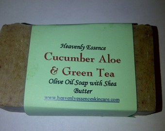 Cucumber Aloe & Green Tea Olive oil Soap