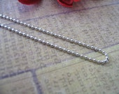 50pc...1.5mm Shiny Silver Ball Chains. Great for pendants, Cabochons, Scrabble and Glass Tiles.
