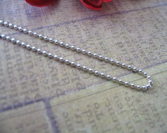 20pc...1.5mm Shiny Silver Ball Chains. Great for pendants, Cabochons, Scrabble and Glass Tiles.
