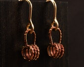 Historical Roman Style Small Coiled Hoop Dangle Earrings