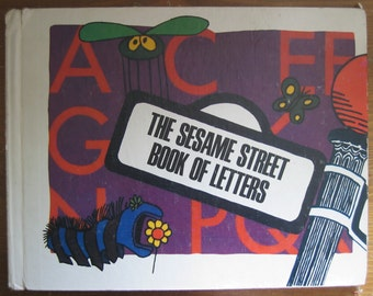 Vintage Children's Book: The Sesame Street Book of Letters