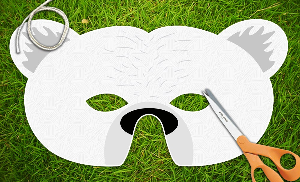 Polar Bear Printable Mask Halloween Mask Party by theRasilisk
