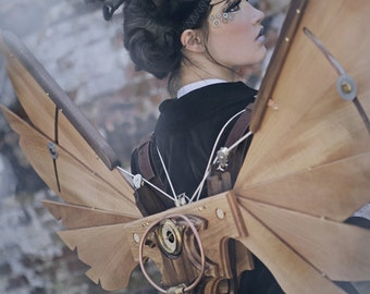Steampunk Icarus Wings - Custom Built For You & One Of A Kind! - Burning Man