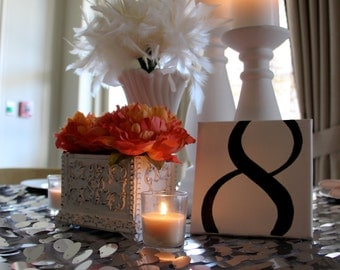 Canvas Table Numbers - Handpainted & Personalized