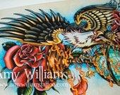 Eagle Tattoo Art  A4 Print