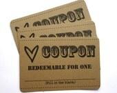 LOVE Coupons- 1 Dozen