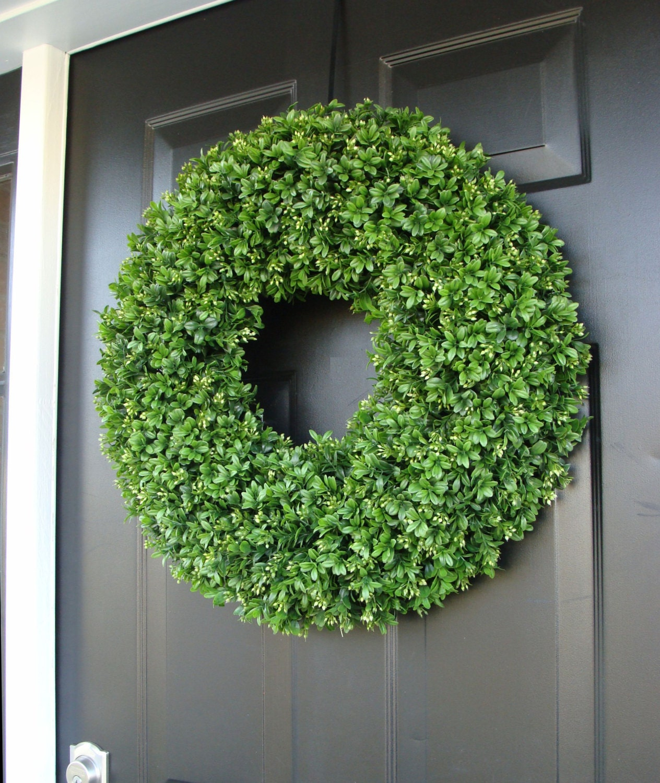 Summer Outdoor Wall Decor : Boxwood wreath summer wreaths outdoor decor wall art