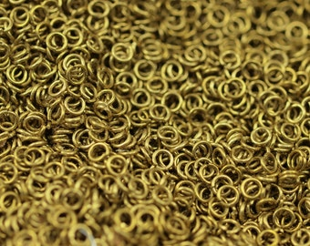 4mm Jump Rings - 250 Pieces Raw Brass Jump Rings (4x0.60mm) A0337