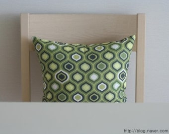 Retro Scandinavian Style Linen Pillow Case(Cover, Slip) - Green Tone