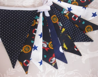 SALE SALE SALE! Pirate Banner Bunting ideal for a Boy's Birthday Party or Room Decor or Photo prop Ready to ship