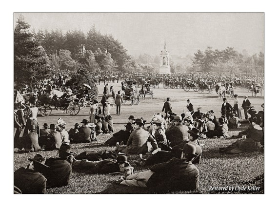 1890s San Francisco, GOLDEN GATE PARK, large 16x20 inch Fine Art Print, toned Black and White, Restored by Clyde Keller