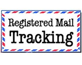 REGISTERED POST - Shipping Upgrade - Add On Service - Tracking Number