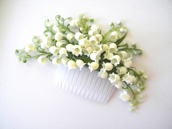 Lily of the Valley hair comb