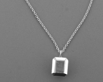 """Emerald Cut """"Diamond"""" Necklace"""