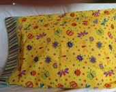 Pillowcase for the insect lover in primary colors