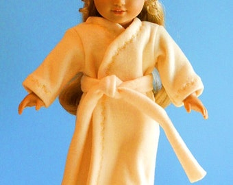 American Girl Doll Clothes - Sunshine Yellow Fleece Robe - 18 Inch Doll Clothes