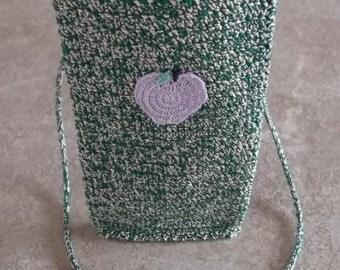 Bonnie's Crochet Cotton Thread Item iphone 5 Necklace Case w/ hand knit -i-cord