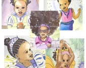 ANY 4 8x10 Multicultural Girl Power prints