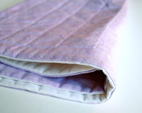 Amethyst Organic Baby QUILT / Eco-Friendly Baby Cot Crib Quilt Bedding - Spring Lavendar Purple