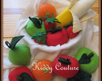 READY TO SHIP!! The Ultimate Fruit felt play food collection