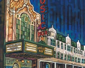 Music Box Theater on Southport, Chicago 5x7 Art Print by Anastasia Mak