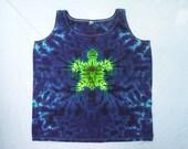 Midnight Turtle Tie Dye Tank Ladies Size XL