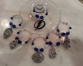 Tampa Bay Lightning  Hockey wine charms w/pouch