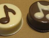 Music note chocolate covered sandwich cookie Oreo one dozen