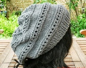 Knit Hat - The Eyelet Rasta in Gray - Women's Fashion - Accessories - Slouch Hat