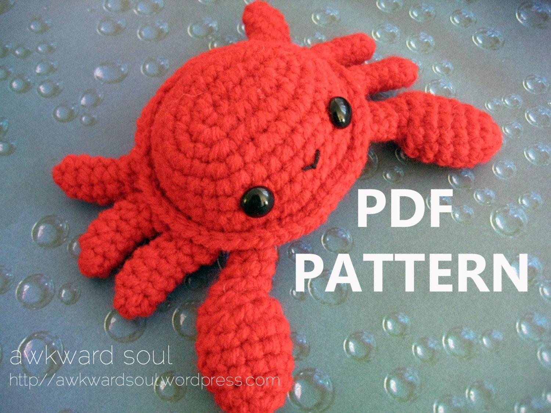 Crochet Amigurumi Crab : Crab Amigurumi Crochet Pattern PDF