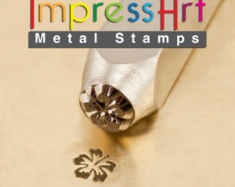 ImpressArt Metal Stamp Hibiscus 6mm, Flower Metal Stamp