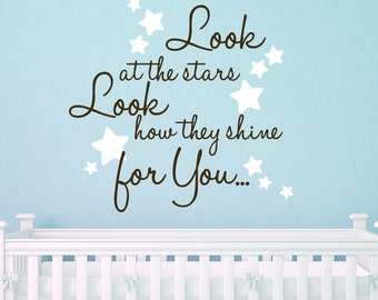 Cold Play Quote Nursery Quote 22X22 Look At The Stars