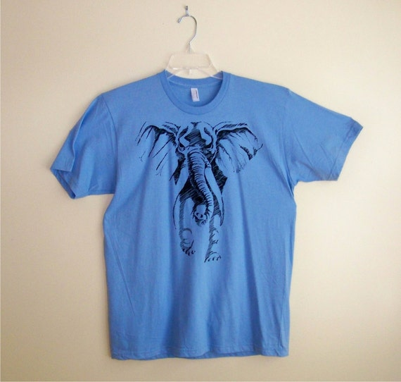 Clearance Sale - Elephant shirt Mens American Apparel tshirt