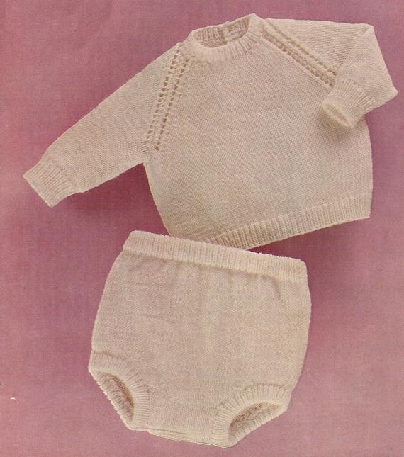 Knit Shorts Pattern : PDF Knitting Pattern Baby Boys Sweater/pants/diapers/shorts