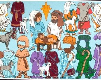Bible Characters Felt Board Set- includes 2 felt dolls to dress