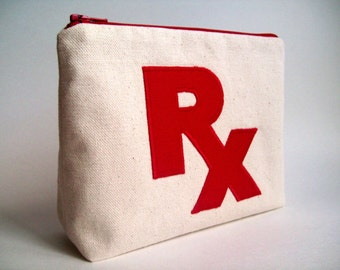 RX Prescription  Medicine Bag   Pill bag
