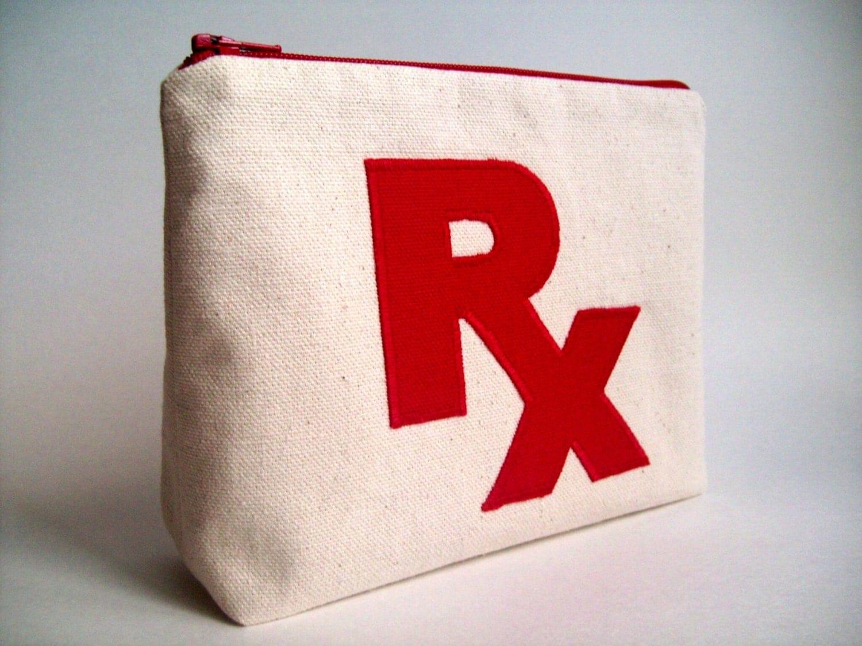 Rx Prescription Medicine Bag Pill Bag