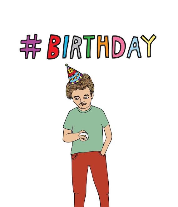 Birthday Card Hashtag Birthday
