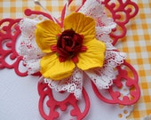 Pretty Butterfly and Flower Embellishments  Set of 3