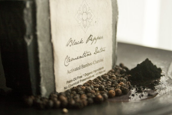 Activated Bamboo Charcoal - Detox, Palm Oil Free, Wrapped in Seeded Paper