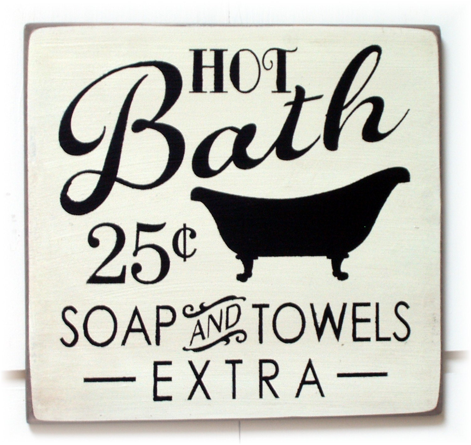 Hot Bath Soap And Towels Extra Wood Sign By Woodsignsbypatti